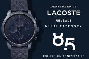 Jubileuszowa, limitowana kolekcja zegarków LACOSTE